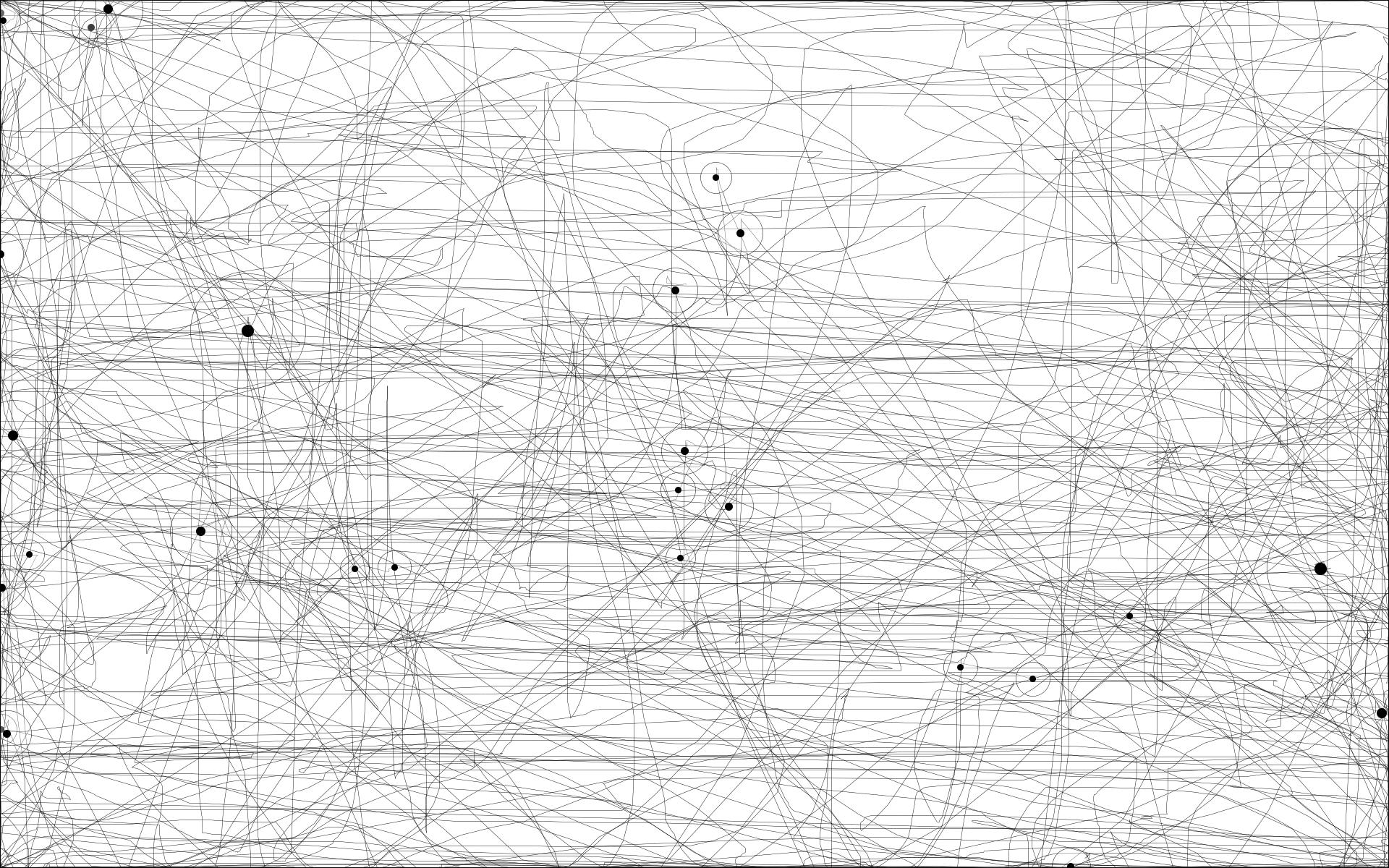 18 min de jeu sur Dishonored : on remarque les longues lignes horizontales lorsque le joueur se déplace et regarde autour de lui ainsi que quelques lignes verticales lorsque le joueur doit regarder en hauteur pour atteindre des plateformes.