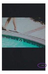 Capture écran de l'affichage d'une photographie