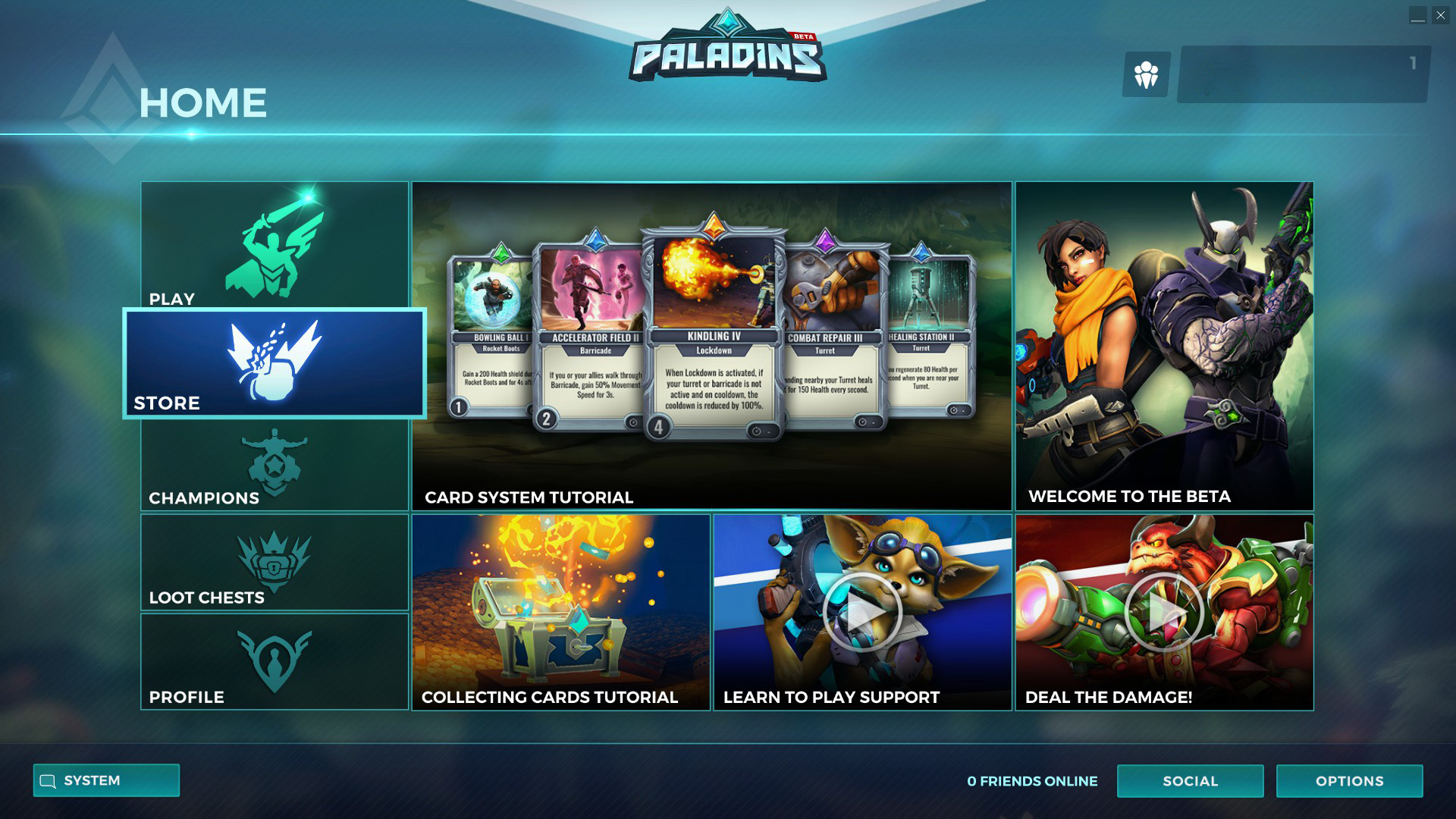 Des vidéos sont présentes sur la page d'accueil du jeu.