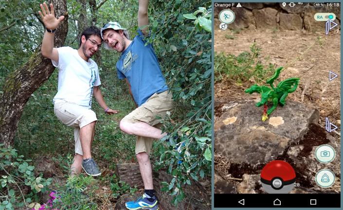 L'épreuve d'équilibre de l'équipe « Bord-de-Sable » et leur cliché gagnant pour le défi de la photo la plus drôle !