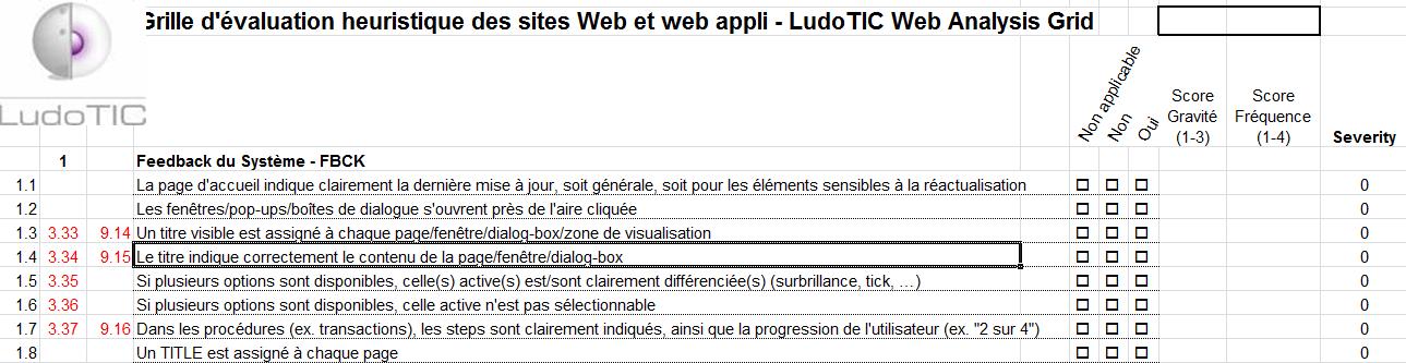 La grille heuristique des sites web de LudoTIC, issue de plusieurs années de recherche et toujours remise à jour.