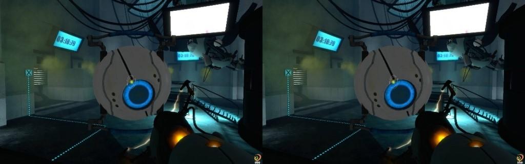 Vue stéréoscopique du jeu Portal