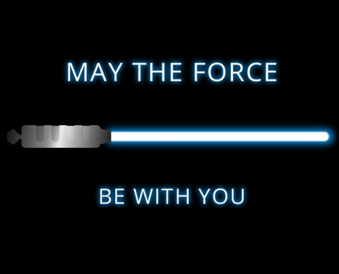 "Sabre laser : ""May the force be with you"""