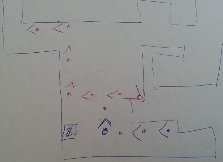 Résultat au test du level design d'un niveau une fois le cache retiré.